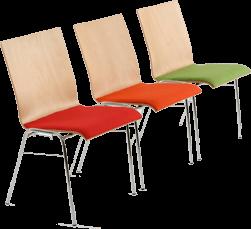 Stapelbare und Reihenverbindbare Stühle