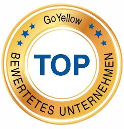 Auszeichnung für TOP bewertetes Unternehmen bei GoYellow