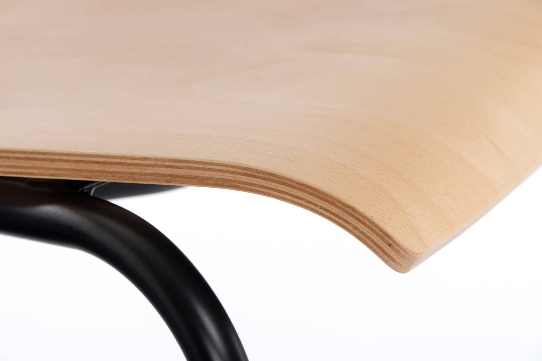 Die gebogene Sitzfläche für ein bequemes Sitzen