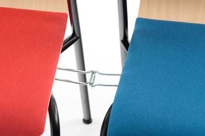 Mit dem Reihenverbinder können einfach und schnell Stuhlreihen erzeugt werden