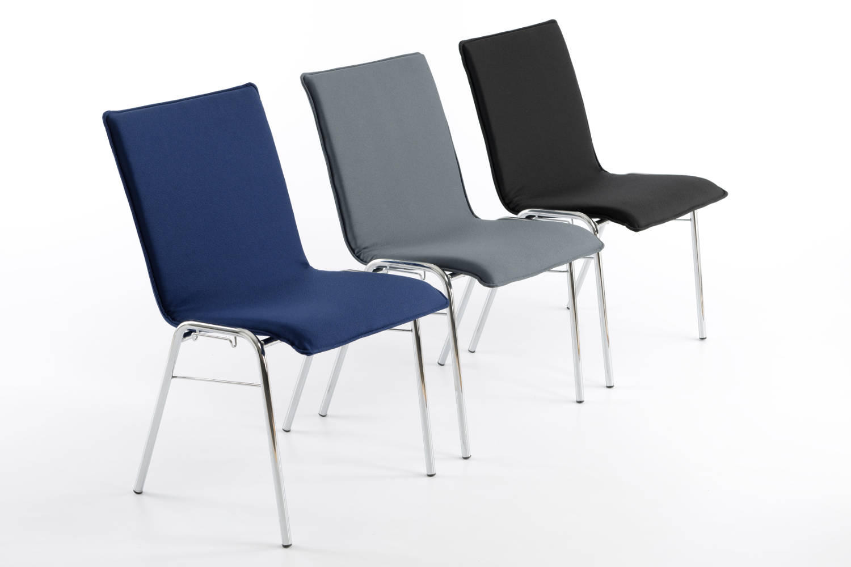 Der perfekte Reihenstuhl für Hallen und Säle