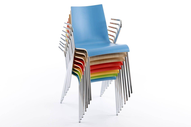 Eine große Farbauswahl auch bei unseren Mailand Armlehnenstühlen