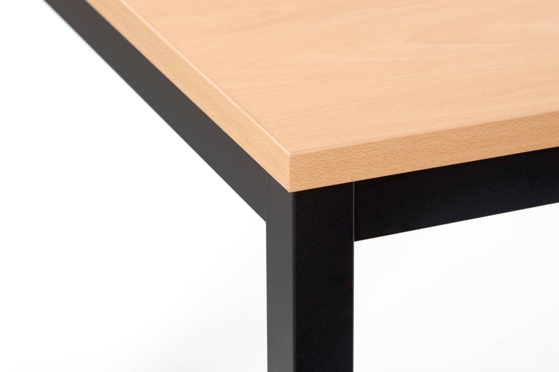 Stabile Quadratische Stahlgestelltische Stuhloase
